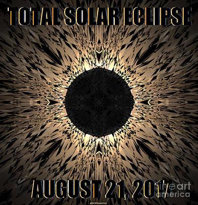 Solar Eclipse Digital Art - Total Solar Eclipse 2017 Extreme  by Rick Elam
