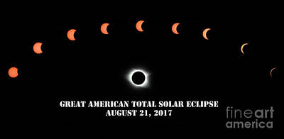 Photograph - Total Solar Eclipse August 21, 2017 by Charline Xia