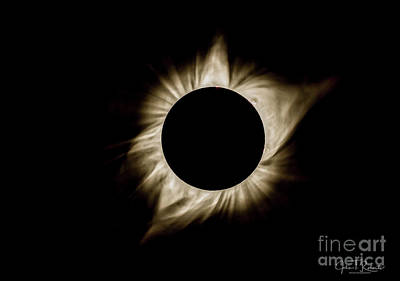 Photograph - Total Solar Eclipse Corona by John Roberts