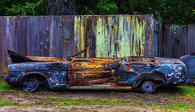 Totaled Classic Car Art Print by Garry Gay