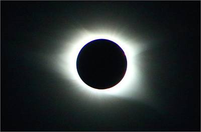 Photograph - Totality Corona by Kathryn Meyer