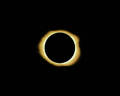 Photograph - Totality - Eclipse 2017 by Lynne Jenkins
