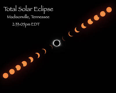 Photograph - Totality by Norman Peay