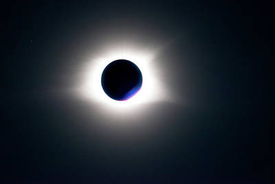 Photograph - Totality Unfiltered by Onyonet  Photo Studios