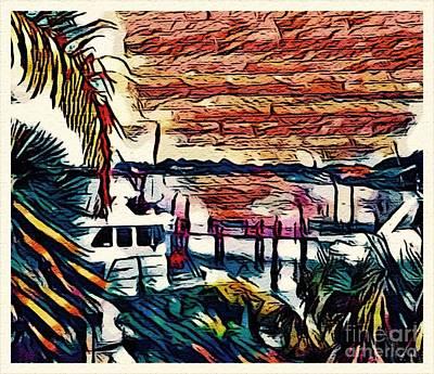 Puerto Rico Digital Art - Totally Abstracted Puerto Rico Five by Caroline Gilmore