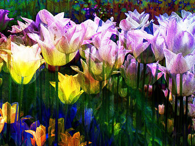 Digital Art - Totally Tulips by Kiki Art