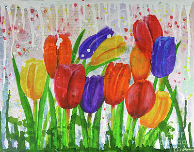 Painting - Totally Tulips by Lisa Crisman