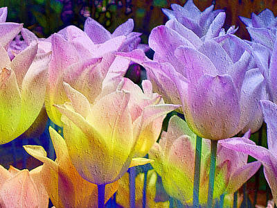 Digital Art - Totally Tulips Two by Kiki Art