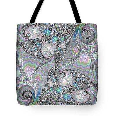 Digital Art - Tote Bag - Abalone Shells by HH Photography of Florida