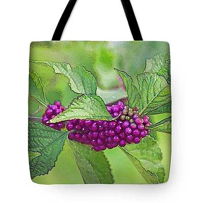 Photograph - Tote Bag - American Beautyberry by HH Photography of Florida