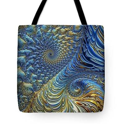 Digital Art - Tote Bag - Ocean Tide At Sunset by HH Photography of Florida