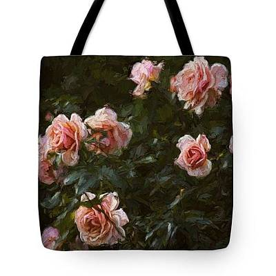 Photograph - Tote Bag - Pink Roses by HH Photography of Florida