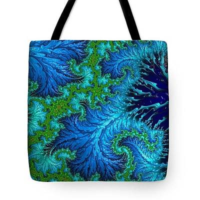 Digital Art - Tote Bag - Wading In The Deep by HH Photography of Florida