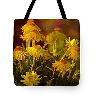 Photograph - Tote Bag - Yellow Is - Coneflower by HH Photography of Florida