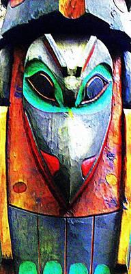 Totem 7 Art Print by Randall Weidner