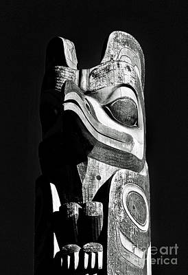Photograph - Totem Black And White by Michael Cinnamond