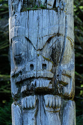 Haida Gwaii Photograph - Totem by Christian Heeb