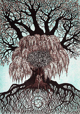 Carcass Drawing - Totem Of The Family Trees by Lesya Shevchishina