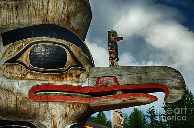 Photograph - Totem Pole Alaska 13 by Bob Christopher