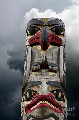 Photograph - Totem Pole Alaska 15 by Bob Christopher
