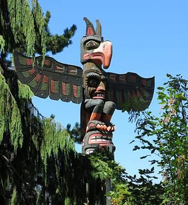 Totem Pole Art Print by Betty Buller Whitehead