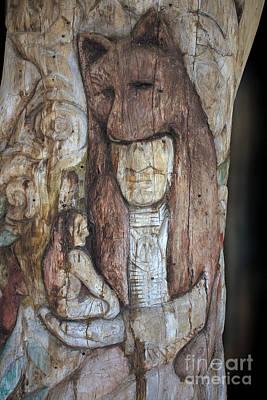 Spirit Guides Digital Art - Totem Pole Indian Spirit Guide by Ella Kaye Dickey