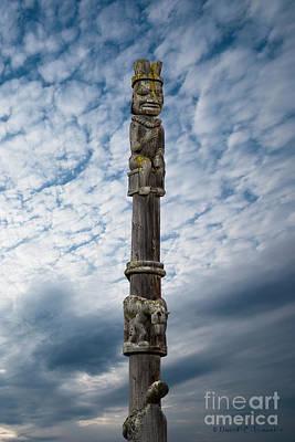 Photograph - Totem Pole Kitwanga by David Arment