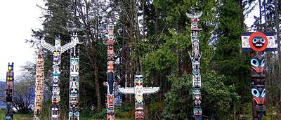 Totem Poles Art Print by Will Borden