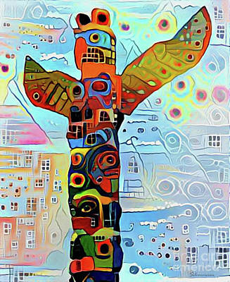 Digital Art - Totem Print Three by Nina Silver