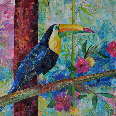 Toucan Mixed Media - Totem Toucan by Susan Hurwitch