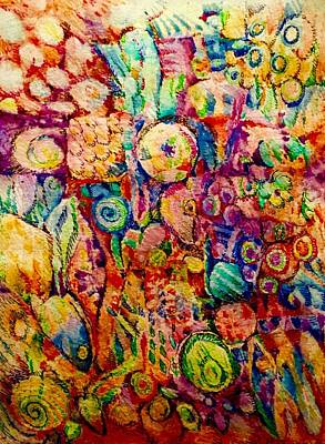 Abstract Drawing - Totemic Splendor by Steevie Parks