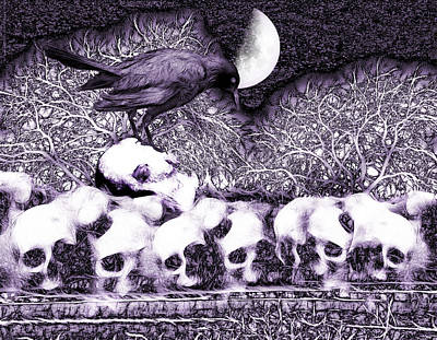 Spirit Guides Digital Art - Totenwache - The Wake by Mimulux patricia no No