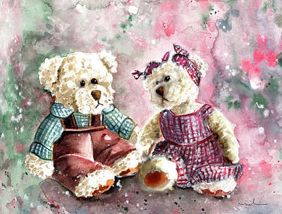 Painting - Toto Et Lolo by Miki De Goodaboom