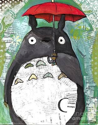 Mixed Media - Totoro by Annalisa Loevenguth