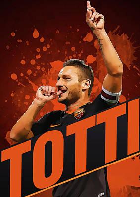 Totti Print by Semih Yurdabak