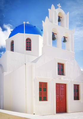 Photograph - Tou Stavrou Church Santorini by Adam Rainoff