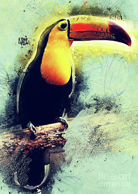Animals Digital Art - Toucan art  by Justyna Jaszke JBJart