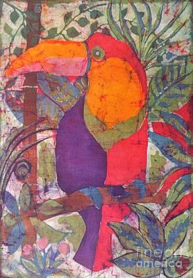Toucan Mixed Media - Toucan Batik by Caroline Street