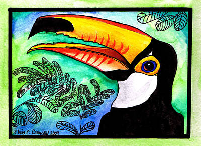 Toucan Mixed Media - Toucan by Chris Crowley