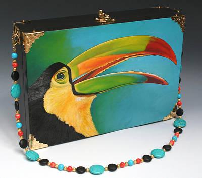 Toucan Mixed Media - Toucan Handbag by Denise Meyers