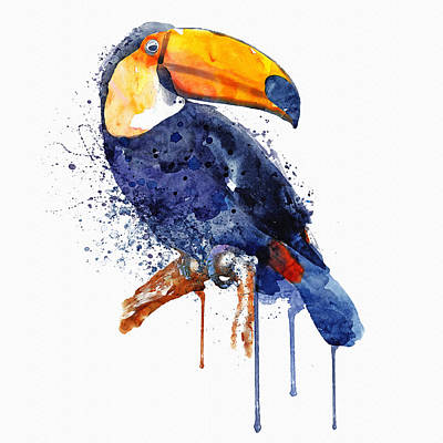 Bird Art Mixed Media - Toucan by Marian Voicu
