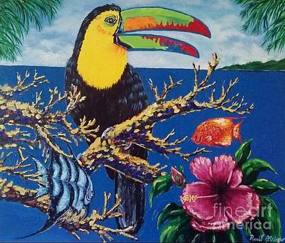 Wall Art - Painting - Toucan by Raul Alsina