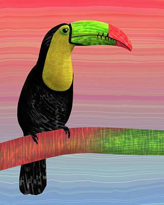 Toucan Mixed Media - Toucan Sun by Frodomixa Studio
