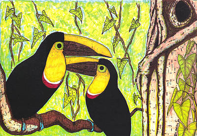 Xerox Mixed Media - Toucans In Central Park by Vincent Mantia
