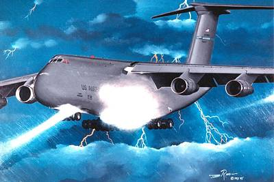 Retro Wall Art - Painting - Touch Down by Peter Ring Sr