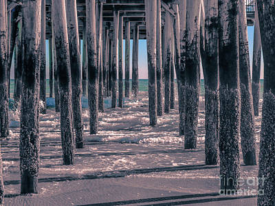 Photograph - Touch Of Aqua Under The Pier by Claudia M Photography