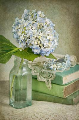 Touch Of Blue Print by Cheryl Davis