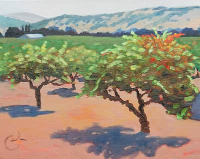 Winery Painting - Touch Of Fall by Gary Coleman
