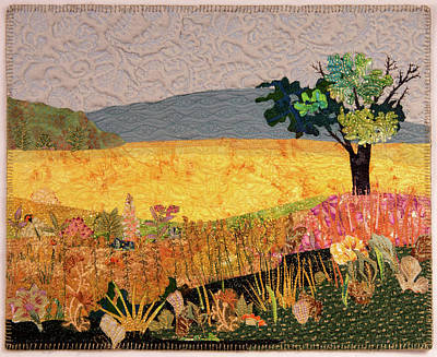 Tapestry - Textile - Touch Of Goldenrod by Martha Ressler
