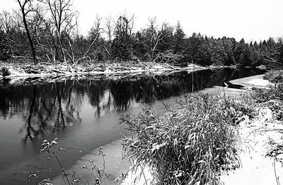 Photograph - Touch Of Winter Black And White by Debbie Oppermann